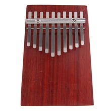 10 Keys Red Wood Mini Finger Piano Kalimba Thumb Traditional African Music Instruments Suitable for Beginners Advanced Players a(China)