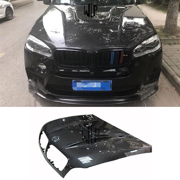 F15 X5 High Quality Carbon Fiber Front Engine Hood Bonnets Engine Covers For BMW F15 X5 H style 2014UP  Car Body Kit
