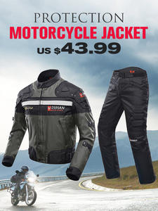 Armor Motorcycle Jacket Clothing-Set Protective-Gear DUHAN Windproof