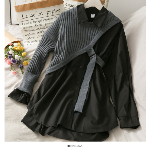 Joinyouth Irregular Shirts Blusas Mujer De Moda 2020 Patchwork Knitwear Tops Korean Blouses Two Piece Sets Blouse Female Clothes 7
