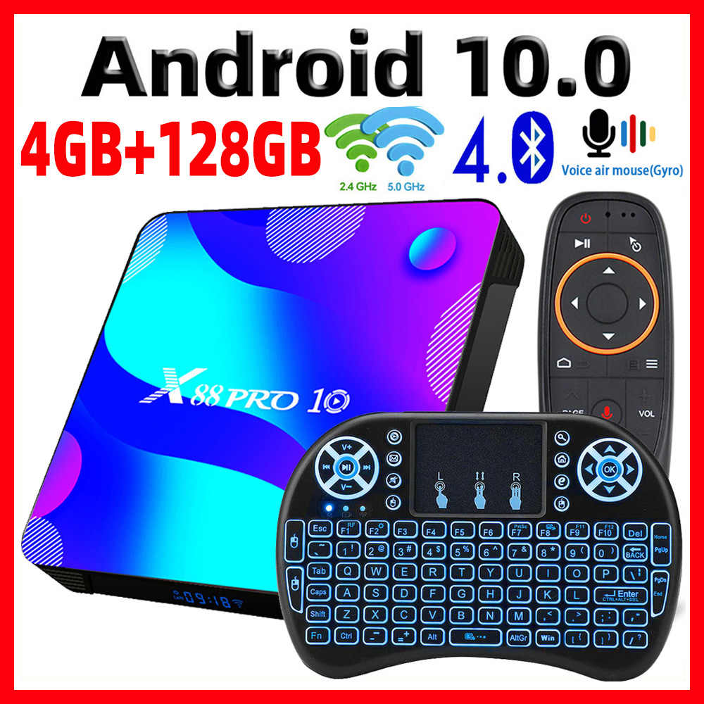 2020 Smart Tv Box Android 10 X88 Pro 10 Max 4Gb 64Gb Tvbox Rockchip RK3318 4K 60fps USB3.0 Google Playstore Youtube Set Top Box