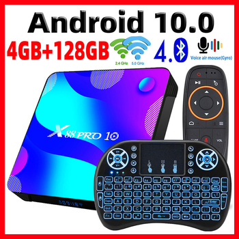 2020 Smart TV Box Android 10 X88 PRO 10 Max 4GB 64GB TVBOX Rockchip RK3318 4K 60fps USB3.0 Google PlayStore Youtube Set top Box