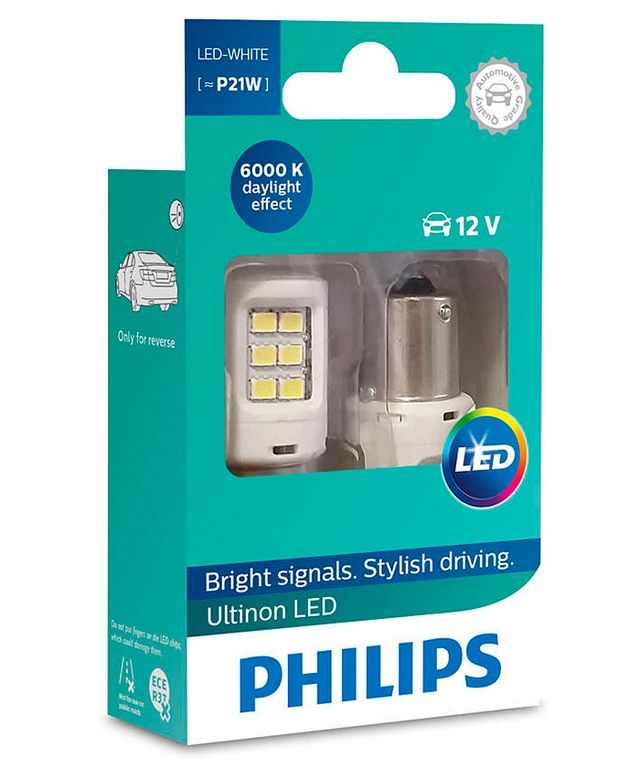 PHILIPS LED P21W 6000К, 2шт.