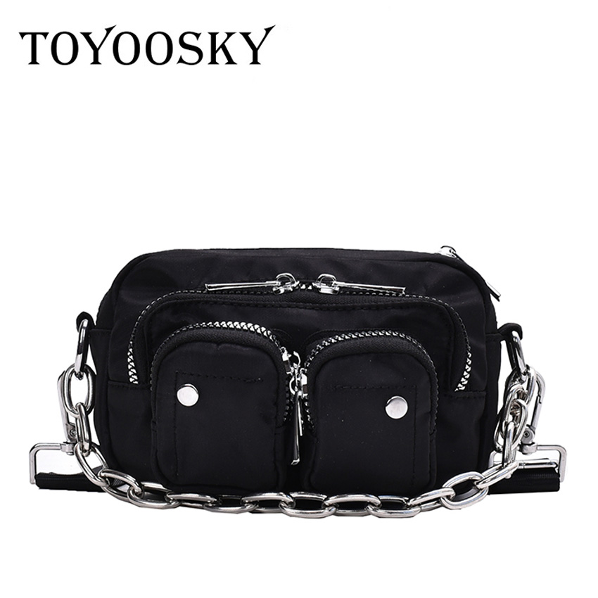 TOYOOSKY Fashion Storage Women Crossbody Bag Hip Hop Multi Functional Chest Bags Casual Banana Ladies Purse Shoulder Bag