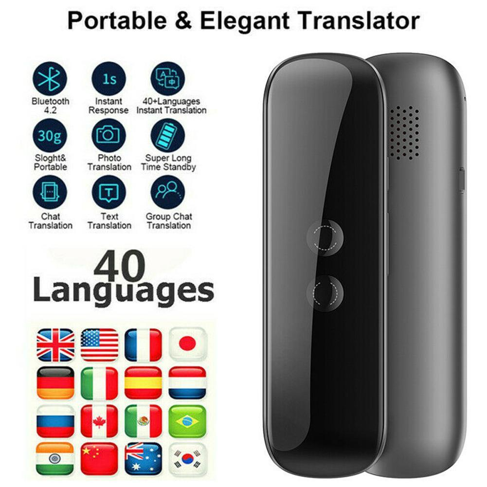 New Smart Portable Instant Voice Translator Portable Two-Way Real Time 40 Multi-Language Bluetooth Translation