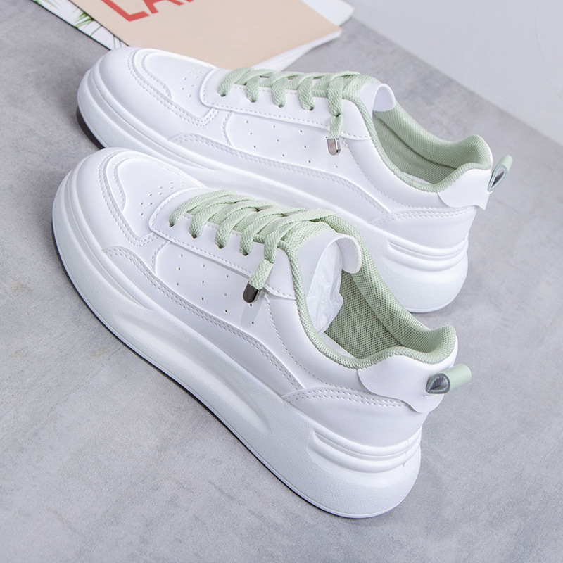Latest Spring Autumn White Shoes Women Platform Shoes Woman Fashion Sneakers High Quality PU Casual Shoes Ladies Shoes Loafers 1