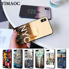 New York city landscape Silicone Case for iPhone 5 5S 6 6S Plus 7 8 X XS Max XR