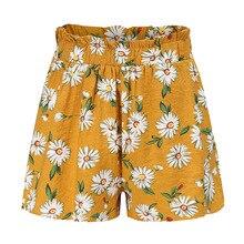 shorts High waist wide leg Chiffon Floral print short Pants SF
