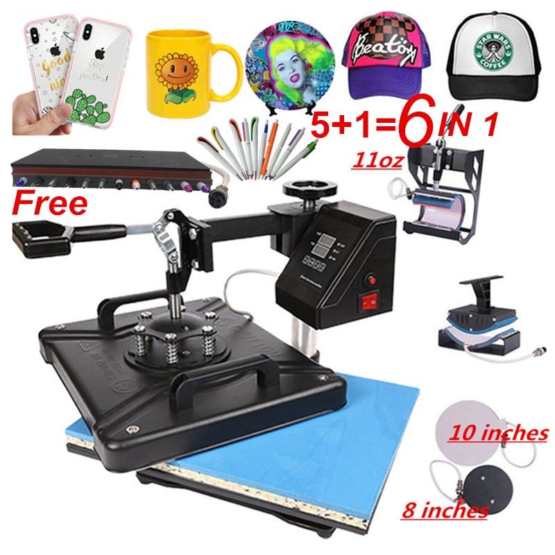 30*38 см 5 в 1 комбинированный термопресс машина сублимационный принтер 2D термопечать ткань крышка кружка пластина ручка футболка печатная ма