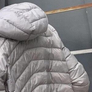 Image 5 - Newbang jaqueta masculina com capuz puffer ultra leve para baixo jaqueta masculina outono inverno duplo lado pena reversível parka