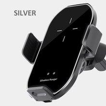 A7 versão atualizada carregador sem fio do carro 10w carga rápida infravermelho automático de detecção de 360 graus de rotação suporte do telefone móvel