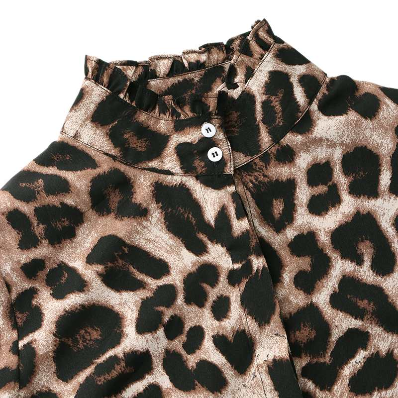 Celmia feminino leopardo imprimir tops e blusa