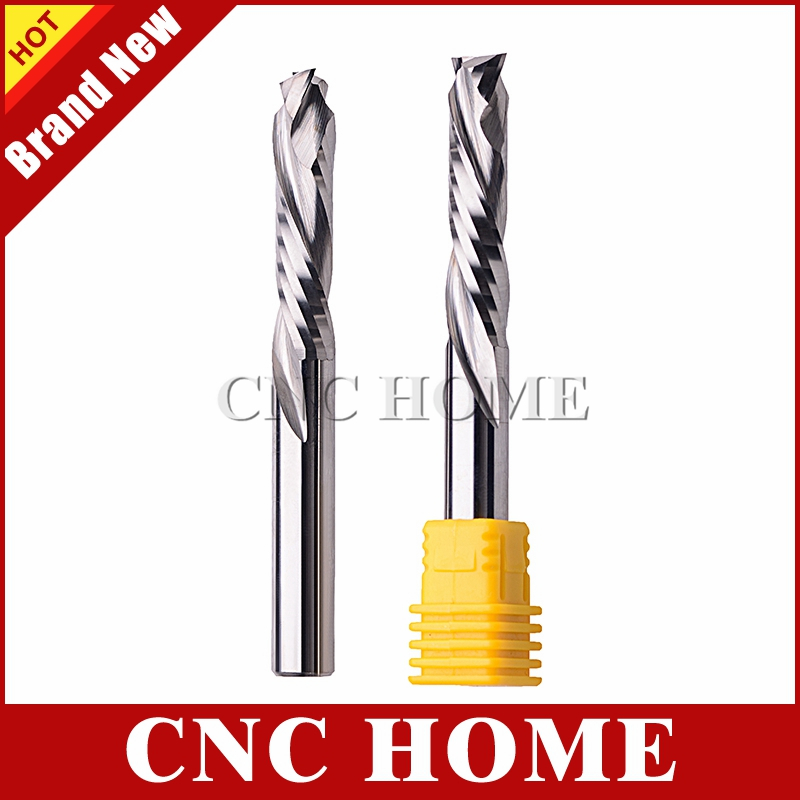 4mm6mm SHK Two Flute Straight Cutter For Wood CNC Endmill Router Bit 5PCS//Pack