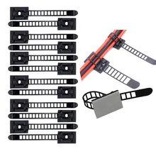 Регулируемый кабельный держатель набор управления, кабельные зажимы для кабеля крепления провода держатель с клейкой защищенной подложкой