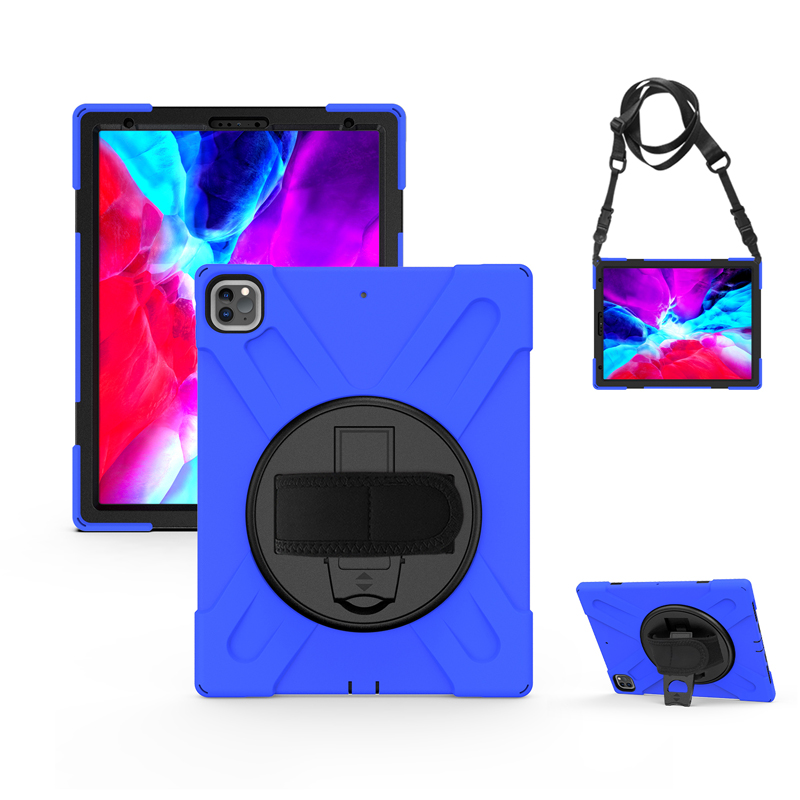 A2462 2021 A2379 Case Protection Cover Heavy For with Strap Pro iPad Rugged Duty A2461 12.9 Kickstand Hand+Neck