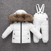 OLEKID 2019 Baby Winter Snowsuit Warm Down Jacket Overalls Infant Girl Clothes Set 1 4 Years Kids Toddler Boys Jumpsuit Suit
