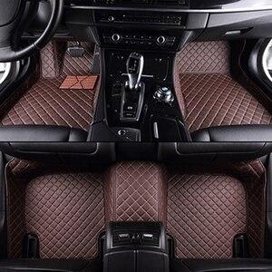Image 5 - High quality leather car floor mat for hyundai SOLARIS CRETA ix35 TUCSON ELANTRA SONATA i30 i40 Santa Fe carpet alfombra astra h