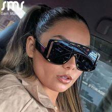 Retro Quadrat Sonnenbrille Frauen Luxus Marke Designer Vintage-Mode Großen Rahmen Sonnenbrille Weibliche Schwarze Shades Oculos De Sol