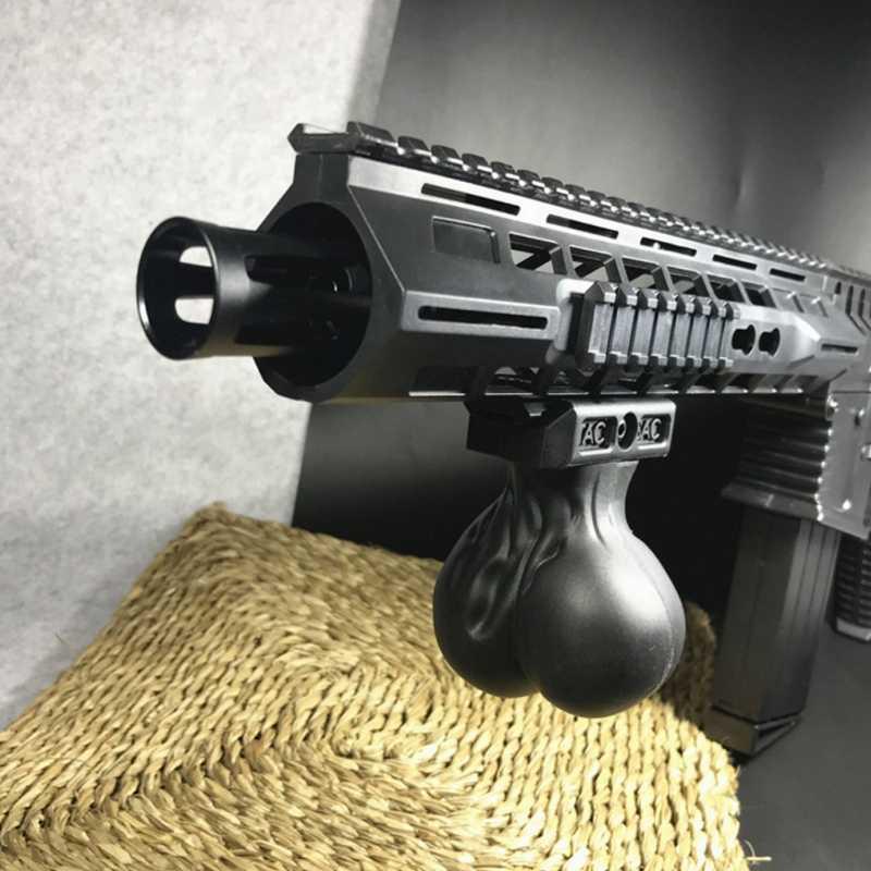 Mini disparador de arma de gel, novidade premium, arma de brinquedo, ovo, aderência, acessórios táticos gerais para nerf, gatilho de arma