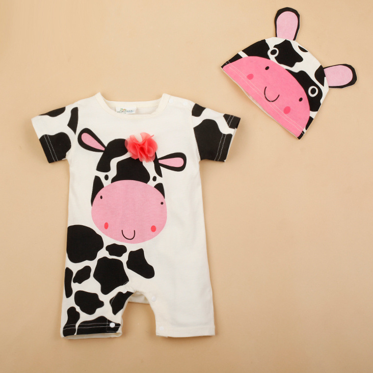 H582dabe24be746e292fa9ac05cec7ac8J Newborn baby cotton rompers lovely Rabbit ears baby boy girls short sleeve baby costume Jumpsuits Roupas Bebes Infant Clothes