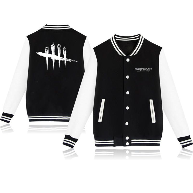Unisex Fashion Baseball Jacket Dead By Daylight Baseball Uniform  Harajuku Sportswear Boys Girls Lovely Cotton Jackets Clothes