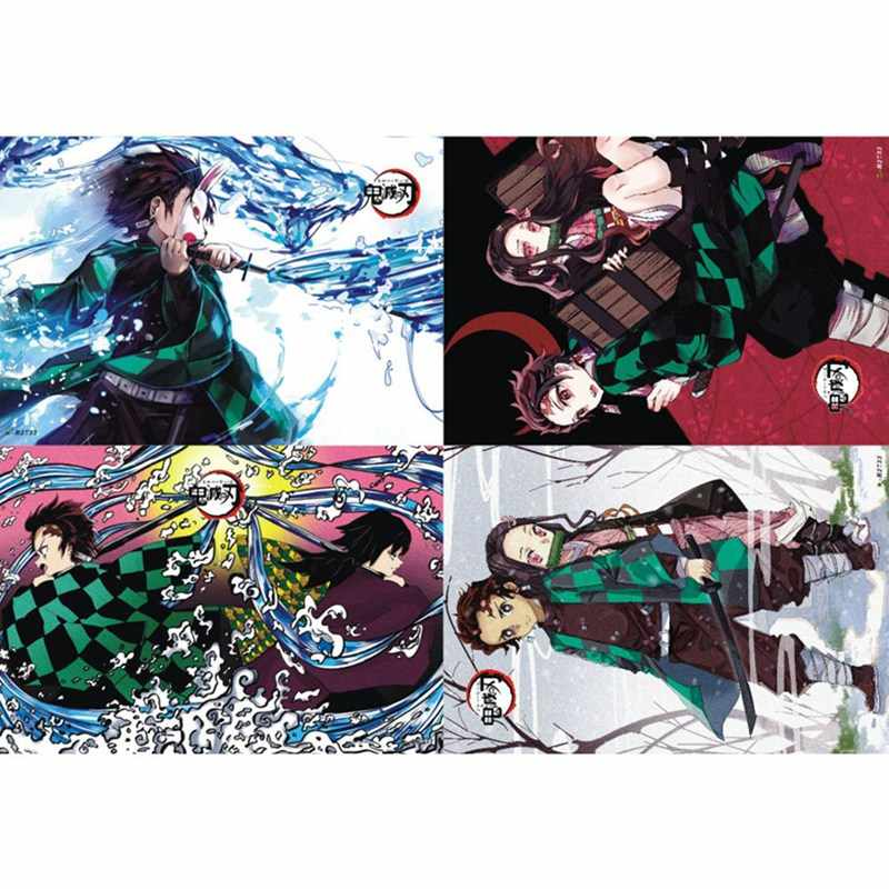 Demon Slayer Kimetsu no Yaiba Polypropylene A3 8 Pieces Posters Wall Poster