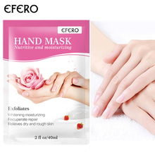 EFERO Exfoliating Hand Mask Wax Peel Hand Care Moisturizing Spa Gloves