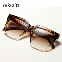 vintage oversized leopard clear square sunglasses for women