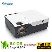 Everycom M18 Bản Địa 1920X1080 Thực Full HD Nhà Đa Phương Tiện Video Trò Chơi Máy Chiếu Máy Cân Bằng Laser 1 (Tùy Chọn Android Wifi AC3)