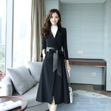 Spring and Autumn New Windswear Womens Long Slimming Coat