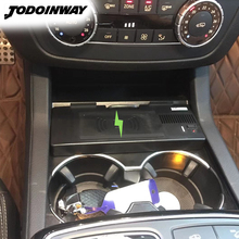Auto Draadloze Oplader Telefoon Houder Voor Mercedes Benz Gle W166 C292 Gls X166 Gl Ml Smart Sensing Mobiele Ondersteuning Qi lading Beugel