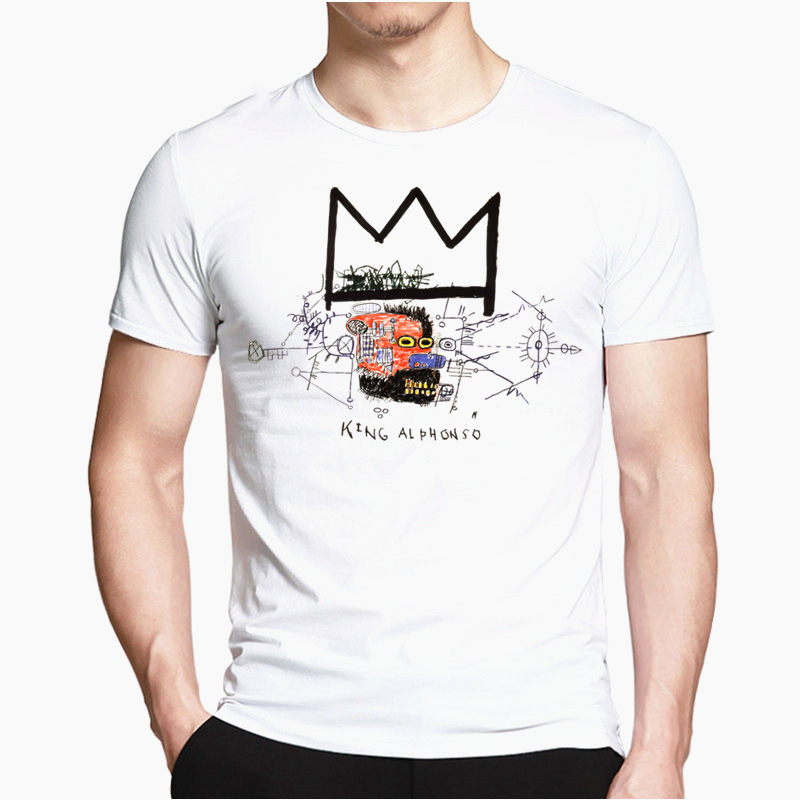 Jean-Michel Basquiat T-shirt With Funny Print For Men Unisex Summer Casual Harajuku T-shirt