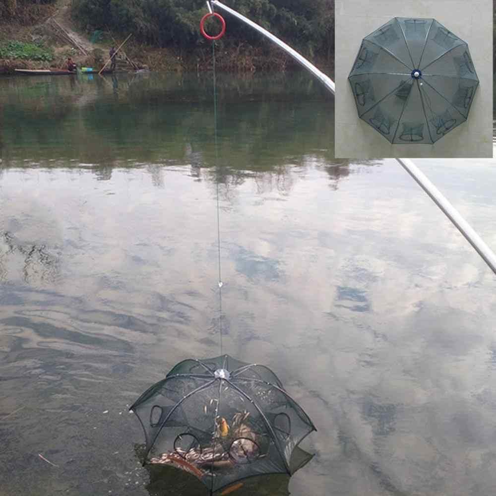 6/8/12/16/20 Hole Pieghevole Portatile Automatico Esagonale Rete Da Pesca Gamberi Pesce Automatico Trappola Gamberetti Carpa rete da pesca
