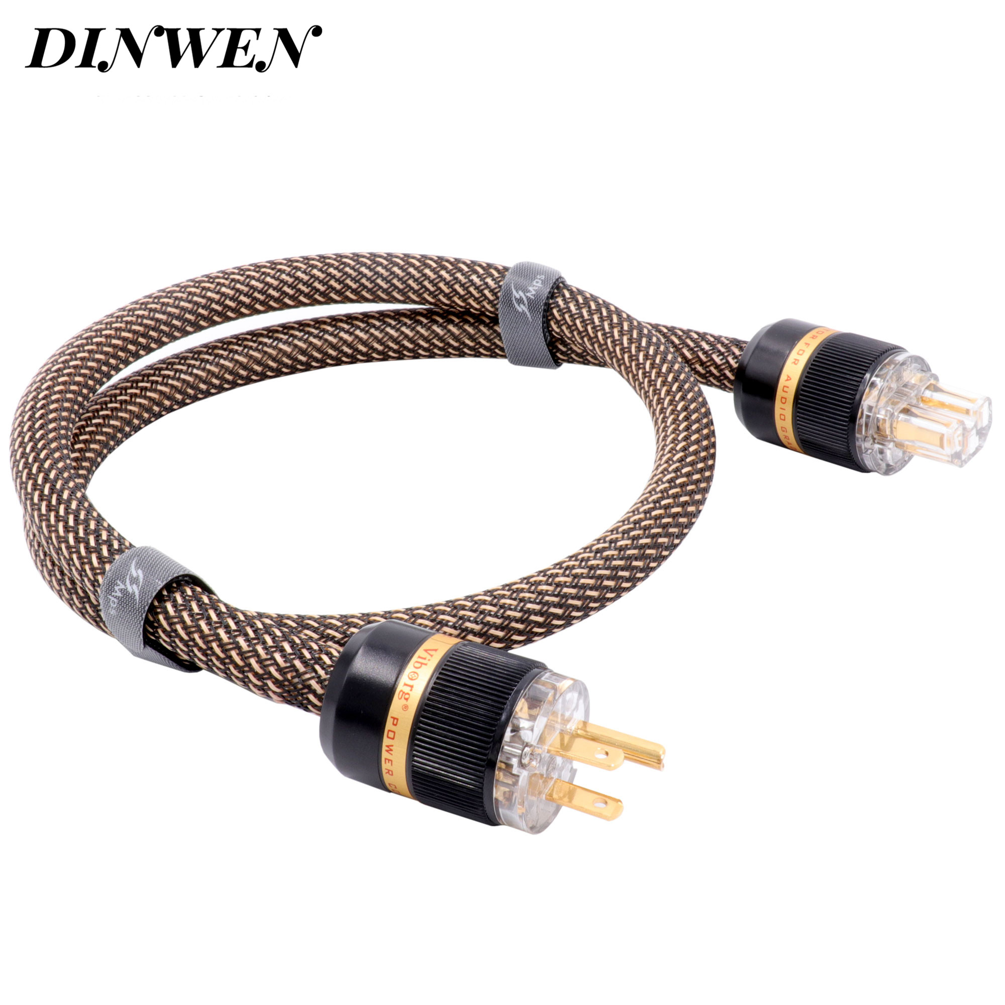 MPS 6N OCC câble d'alimentation ca cordon US connecteurs d'alimentation AC125V 15A Hifi Audio bricolage DVD amplificateur haut de gamme cordon d'alimentation fil 1 PC/Lot