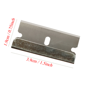 Image 5 - CNGZSY 100pcs 금속 블레이드 안전 면도기 스크레이퍼 접착제 나이프 유리 클리너 교체 탄소강 블레이드 자동차 착색 도구 E13