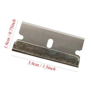 Image 5 - Cngzsy 100個金属ブレード安全かみそりスクレーパーのりナイフガラスクリーナー交換炭素鋼の刃車着色ツールE13