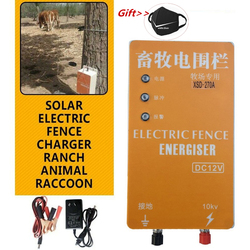 10KM Solar Electric Fence Energizer Charger Hoogspanningspuls Controller Dier Elektrische Hek Fokken Hek Pastor XSD-280B
