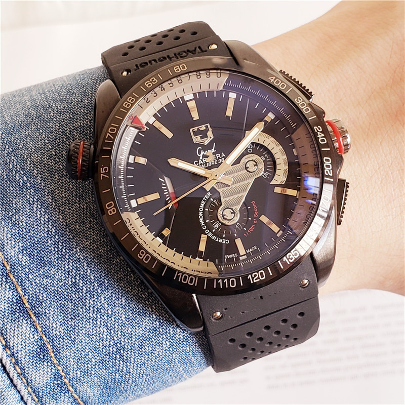 Bring Mechanics More Function Man Will Wrist Watch Fashion Casual Moon Phase Calendar Sports Mechanical Watches