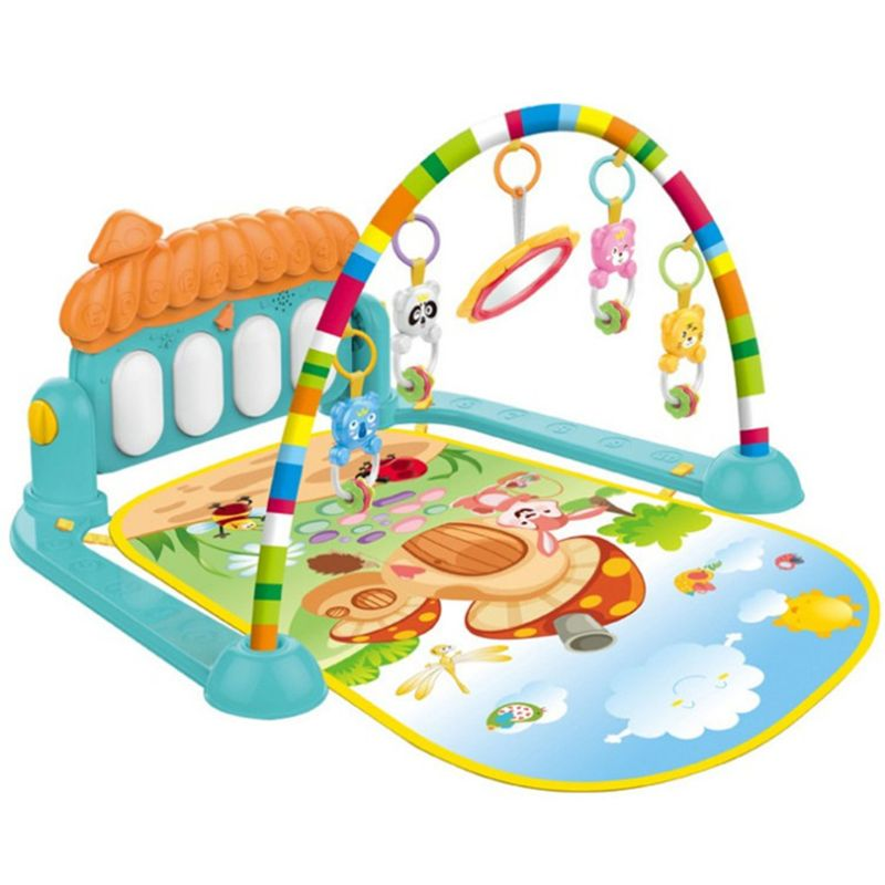 3 In 1 Tollder Musical Gym Play Mat Lay & Play Fitness Fun Piano Kid Boy Girl 72XC