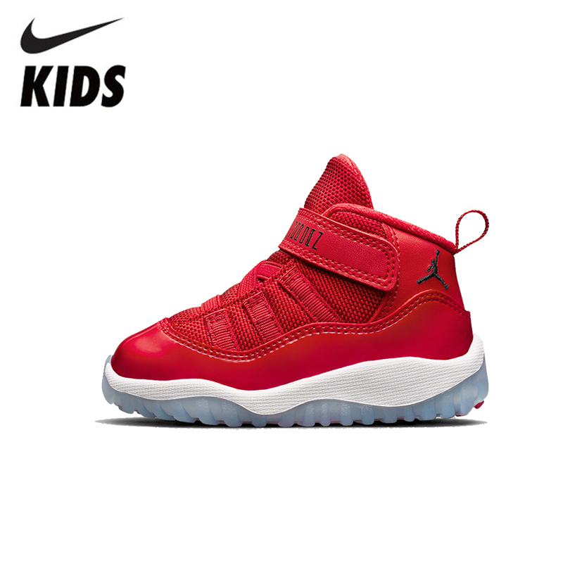Nike Air Jordan XI Original Kids Shoes Leather Baby Running Shoes Comfortable Sports Sneakers #378039-623
