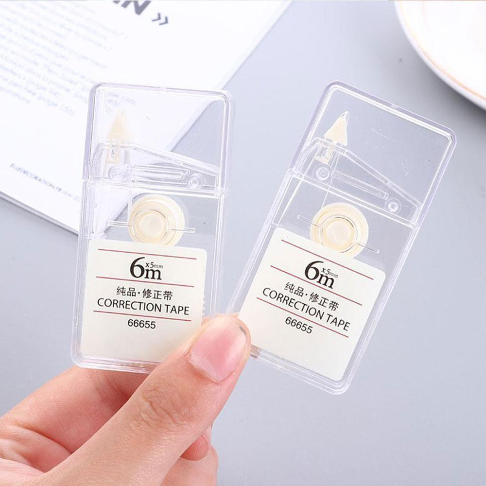1PC Simple Transparent Correction Tape 6m Kawaii Plastic White Correction Student School Office  Stationery Supplies