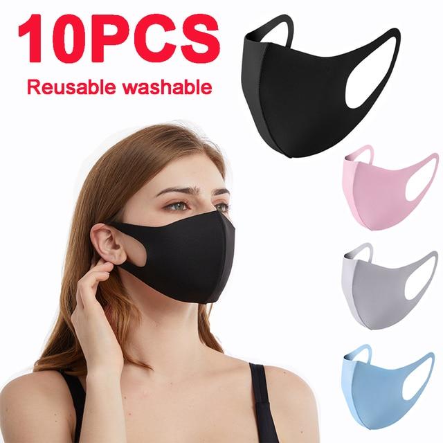 5PCS kpop mask  washable mask elastic mouth soft breathable face mask free size hot windproof