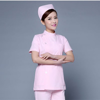 Medical Scrub Clothes Set for women Summer Short Sleeved Slim Fit Nurse uniform Hospital Dental Scrubs Outfit