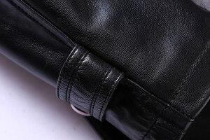 Image 5 - Nueva chaqueta de cuero genuino súper grande de alta calidad para hombre, abrigo suelto, cuello de traje, Otoño Invierno, tamaño Plsu Casual, L 8XL 9XL
