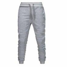 Male Trousers Elastic-Pants Men Joggers Fitness-Workout Cotton Muscle Gym Hip-Hop New