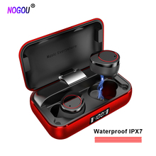 Wireless Bluetooth 5.0 Earphone Power Bank Earphones Metal Shell Gold Black Grey Red Case Waterproof IPX7 Earbuds Sports Headset гарнитура rock mumo bluetooth earphone rau0503 black grey