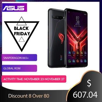 Купить ASUS ROG телефон 3 игровой телефон Snapdragon 865/865plus 12/16RAM 128/256/512ROM 6000 мАч 144 Гц 2sim-карты 5G ROG 3 смартфон