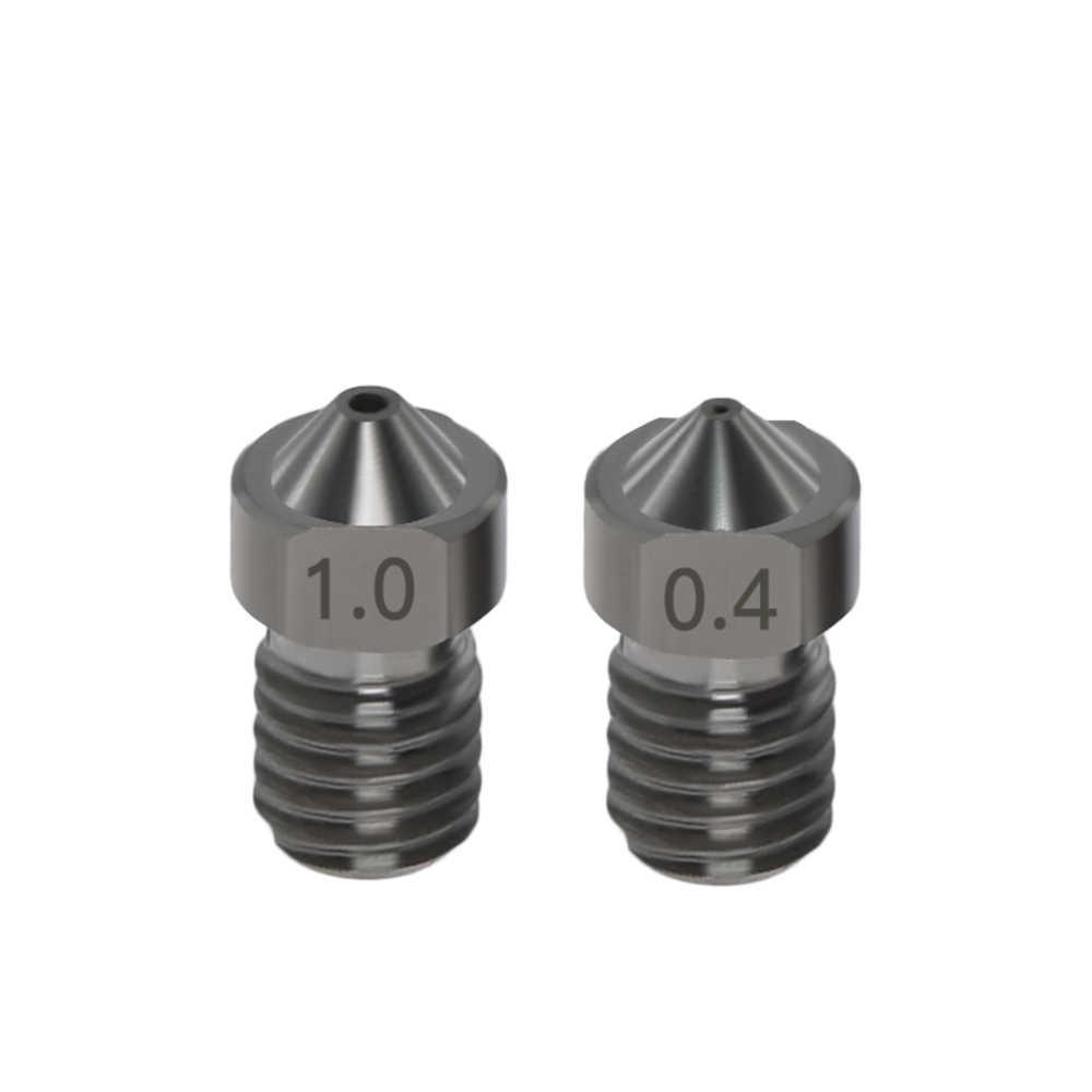 1Pc 3D ชิ้นส่วนเครื่องพิมพ์แข็งเหล็กเหล็กหัวฉีด J-Head Extruder สำหรับ 0.2/0.3/0.4 /0.5/0.6/0.8/1.0 มม.สำหรับ 1.75 มม.สำหรับ 3D V6 & V5