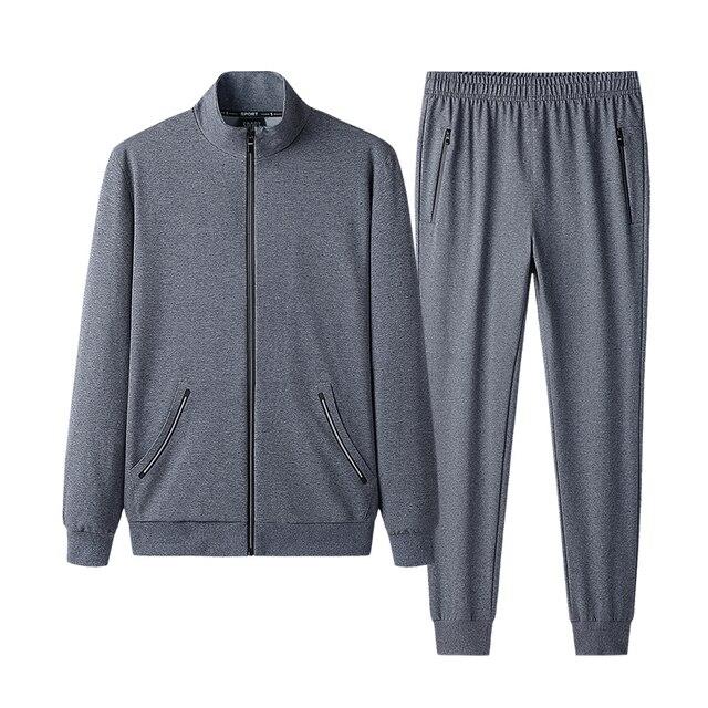 Autumn Sportswear Tracksuits Men Sets Large Size Men's Clothing Jacket+pants 2 Pieces Sports Set Plus Size 8xl 7xl Tracksuit Man 5