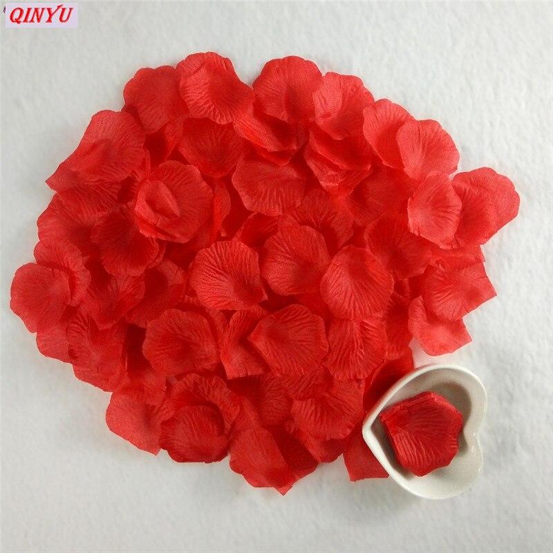 1000 шт., цветные искусственные лепестки роз